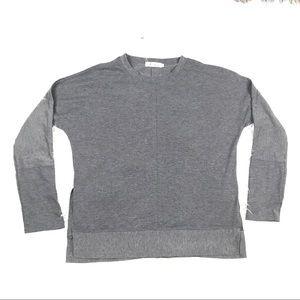 Fashion XL Long Sleeve Cold Shoulder Shirt Top